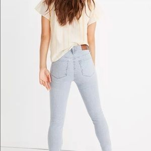 "Madewell 10"" skinny jeans in piper stripe"